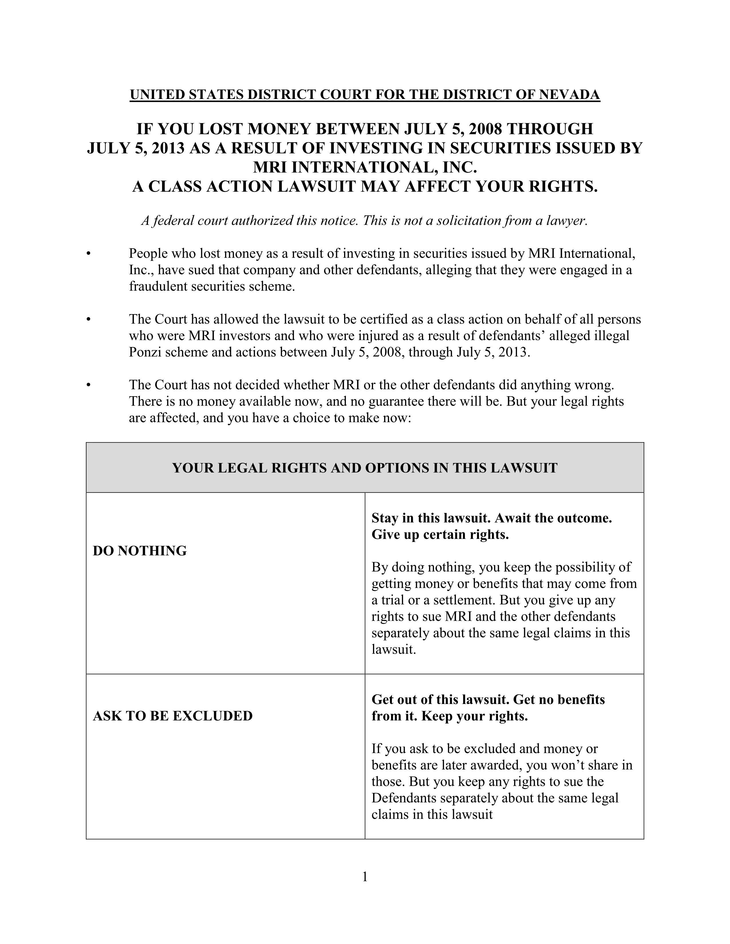 MRI Class Cert Notice_01