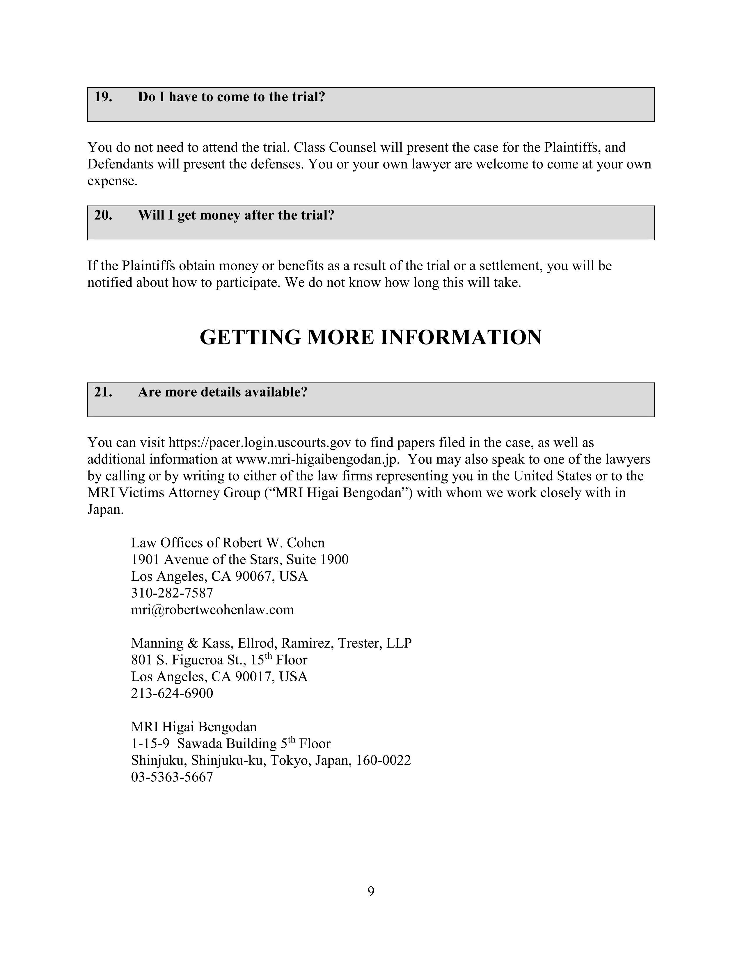 MRI Class Cert Notice_09